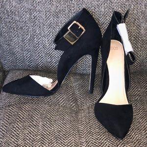 ASOS black suede look heels